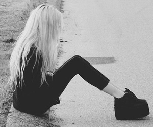 black and white, girl, and punk image