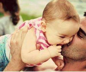 baby, beautiful, and daddy image
