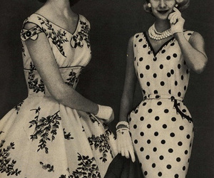 50's, photography, and dresses image