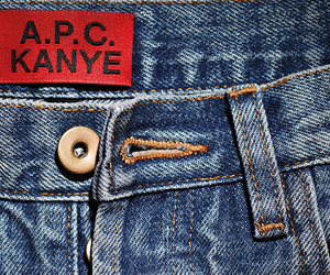 a.p.c., jeans, and kanye image