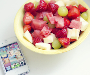fruit, strawberry, and iphone image