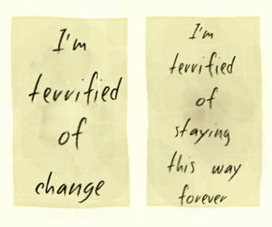 quotes, change, and terrified image