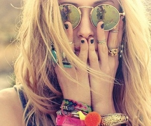 girl, sunglasses, and summer image