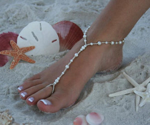 beach, jewelry, and nails image