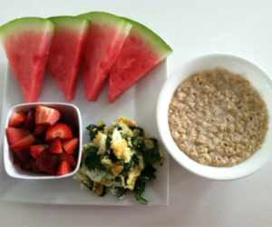healthy, strawberry, and watermelon image