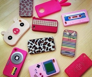 cute, pink, and case image
