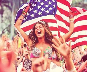 girl, party, and usa image
