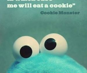 cookie monster, quotes, and cookie image