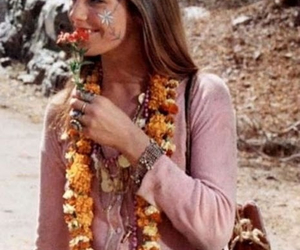 flowers, hippie, and jane birkin image