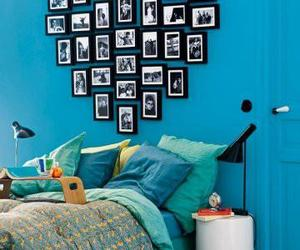 heart, room, and blue image