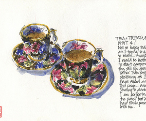 british, illustration, and cup image