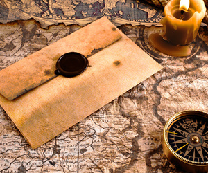 compass, map, and envelope image