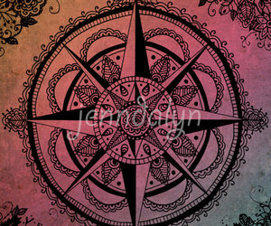 compass rose, travel, and wanderlust image