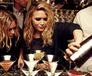 olsen, drink, and ashley olsen image