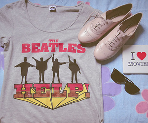 beatles, shoes, and t-shirt image