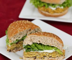 burger, food, and lettuce image