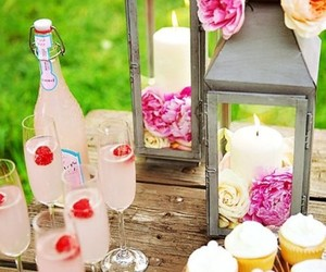 food, party, and pink image