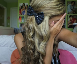 ;), blonde, and bow image