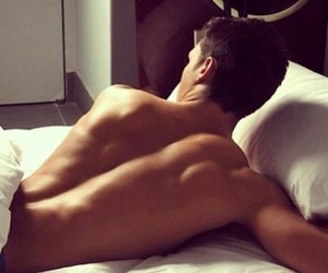 back, bed, and boy image