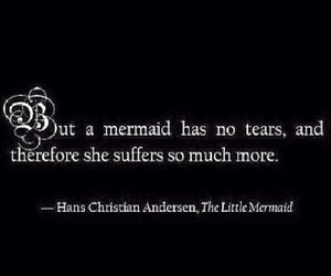 girl, mermaid, and quote image