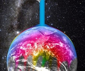 world, earth, and colors image