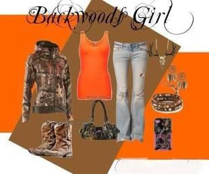 camo, orange, and fashionwear image