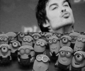 minions, kiss, and ian somerhalder image