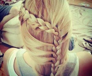 blonde, cute, and braid image