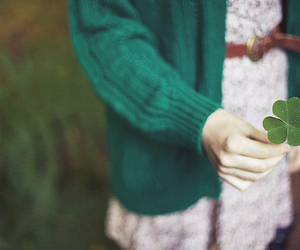 girl, clover, and green image