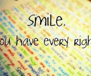 smile, quote, and Right image