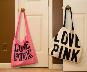 pink, bag, and love pink image