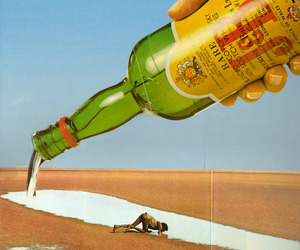 art, bottle, and Collage image