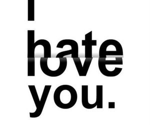 hate, you, and love image