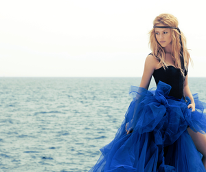 shakira, dress, and blue image