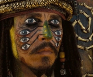 jack sparrow, johnny depp, and eyes image
