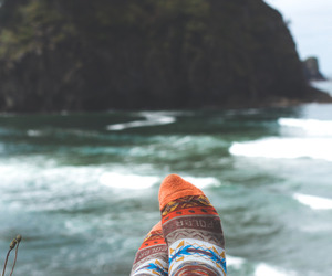 socks, nature, and sea image