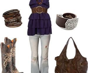 boots, purple, and country image