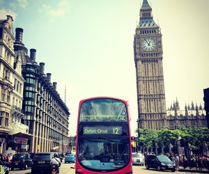 london, travel, and bus image