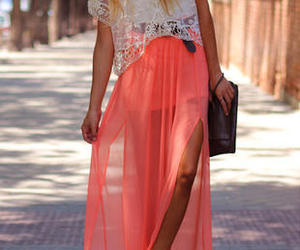 fashion, skirt, and lace image