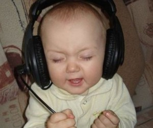 baby, music, and funny image