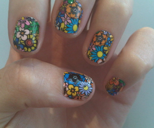 nails, flowers, and katy perry image
