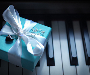 piano, blue, and gift image