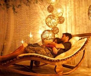 couple, lights, and boy image