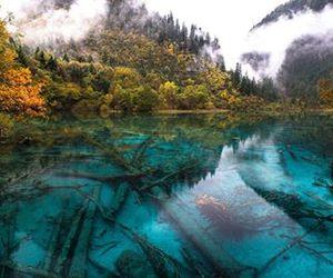 lake, nature, and china image