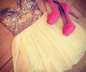 dress, girly, and pink image