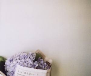flowers, newspaper, and photography image