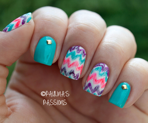 nails, blue, and pretty image