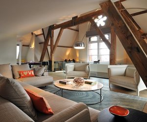 apartment, penthouse, and interior design image