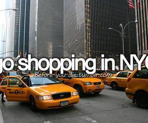 city, new york, and shopping image