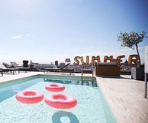 summer, pool, and sun image